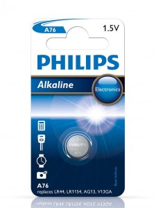 Bateria alkaliczna LR44 A76 Philips Powerlife B1 A76/01B - PHILIPS