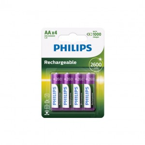 Akumulator Ni-MH (blister 4 sztuki) R6 2600mAh Philips Multilife R6B4B260/10 - PHILIPS