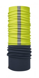 Chusta chroniąca przed wiatrem Windproof Reflective R-Yellow Fluor Navy Buff - BUFF