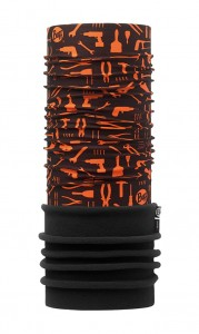 Chusta chroniąca przed zimnem Polar Patterned Tools Orange Fluor Black Buff - BUFF