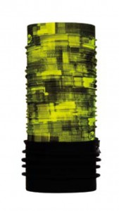 Chusta chroniąca przed zimnem Polar Patterned Plates Yellow Fluor Black Buff - BUFF